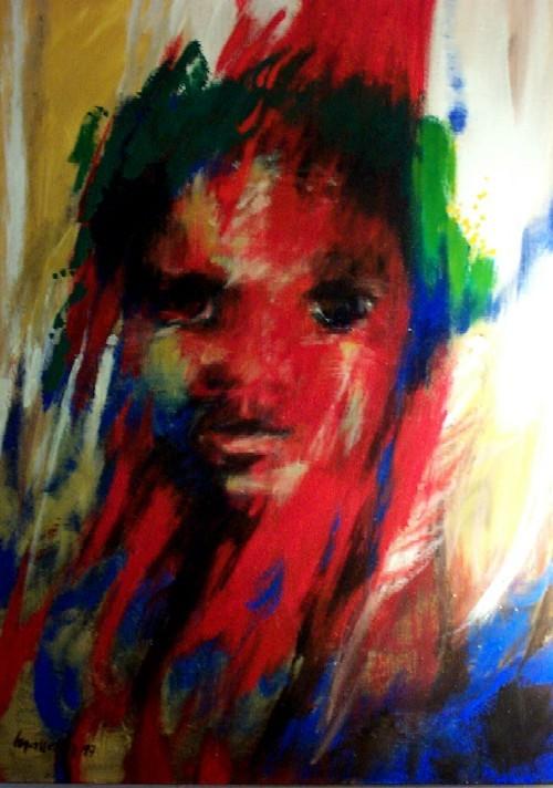 L'enfant rouge - Huile de Maggy Masselter