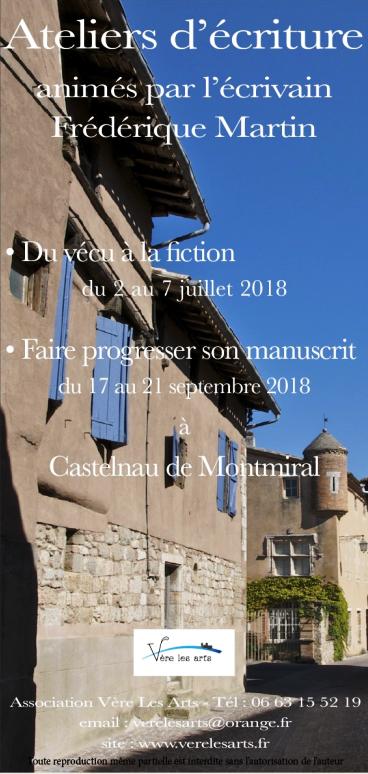 Stages d'écriture résidentiels 2018